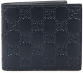 Gucci Navy Monogrammed Leather Wallet