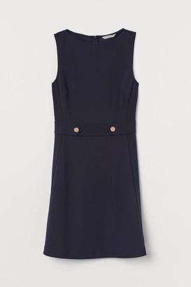H&M Boat-neck Dress - Blue