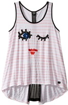 Armani Junior Funtastic Eyelash Logo Tank Top Girl's Sleeveless