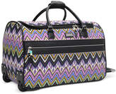 """Steve Madden Closeout! 60% Off Patchwork 21"""" Rolling Duffel, Created for Macy's"""