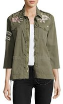 Mother Top Brass Fray Utility Jacket, Green