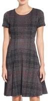 Betsey Johnson Print Ponte Fit & Flare Dress