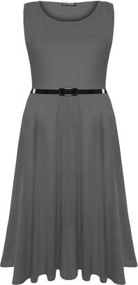 Fashion Star Women's Skater Casual Dress S/M (UK 8/10) Teal