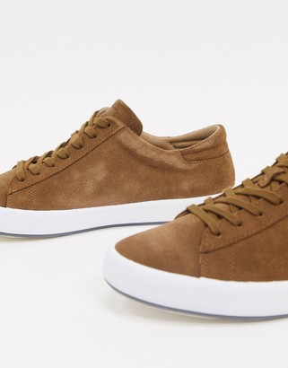 Camper suede trainer in tan