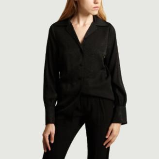 La Petite Francaise Black Viscose Fantasy Pattern Shirt - 34 | viscose | black - Black/Black
