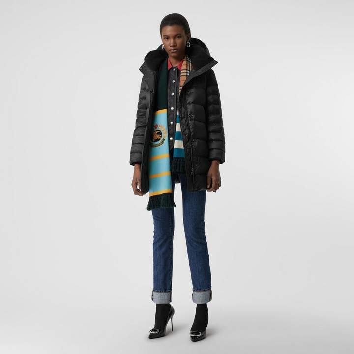 Burberry Down-filled Hooded Puffer Coat , Size: S, Black