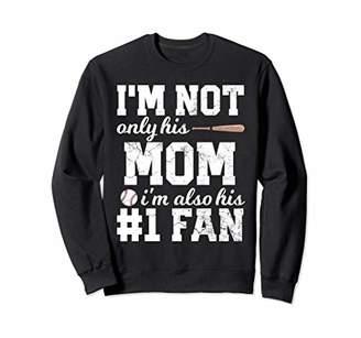 Mom Fan Baseball Retro Distressed Cute Womens Mother Gift Sweatshirt