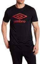 Umbro Short Sleeve Front Checkered Logo Print Tee