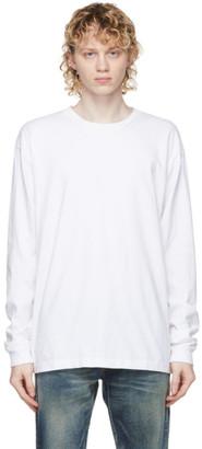John Elliott White Classic University Long Sleeve T-Shirt