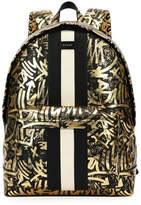 Bally Hingis Graffiti-Print Leather Backpack