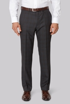 Ermenegildo Zegna Cloth Regular Fit Charcoal Overcheck Trousers