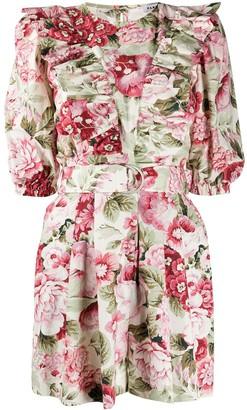 P.A.R.O.S.H. Corus floral-print dress