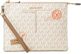 MICHAEL Michael Kors Signature Mail Medium Box Travel Pouch