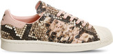 adidas Superstar 80s snake-effect leather trainers