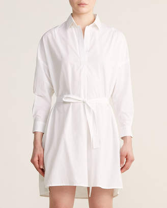 French Connection Rhodes Poplin Belted Shirtdress