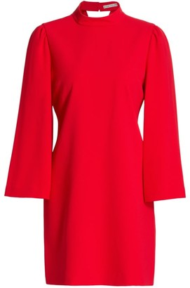 Alice + Olivia Bailey Bell-Sleeve Shift Dress