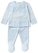 Angel Dear Baby Boys Newborn-3 Months Striped Kimono Long-Sleeve Top & Pants Set
