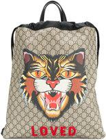 Cat Printed Backpack