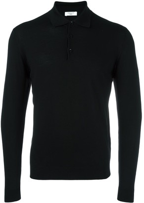 Fashion Clinic Timeless Long Sleeved Knitted Polo Shirt