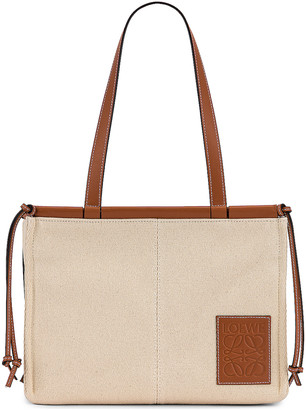 Loewe Cushion Tote Small Bag in Light Oat | FWRD