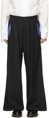 Sulvam Black Wide Trousers