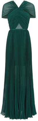 Self-Portrait Self Portrait Chiffon Pleated Maxi Dress