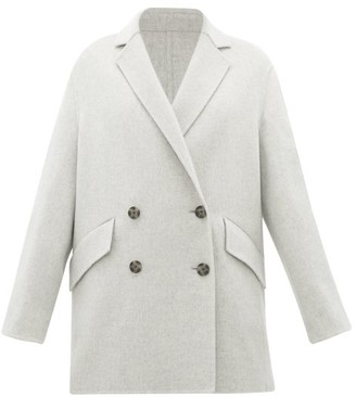 Joseph Milburn Double-breasted Wool-blend Coat - Womens - Light Grey