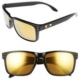 Oakley Women's Holbrook 56Mm Polarized Sunglasses - Black/ 24K Iridium