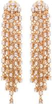Oscar de la Renta Gold Crystal Cascade Waterfall Earrings