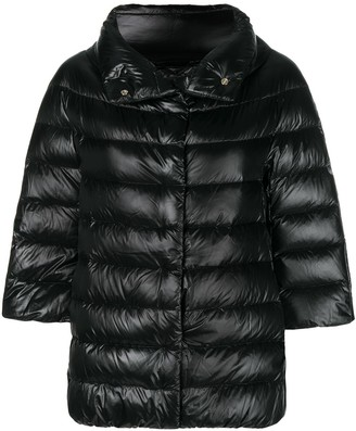 Herno 3/4 Sleeve Puffer Jacket