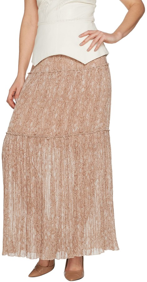 e22df3afc0 Pleated Slit Maxi Skirt - ShopStyle