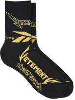 Vetements Men's Heavy-Metal-Inspired Cotton-Blend Socks