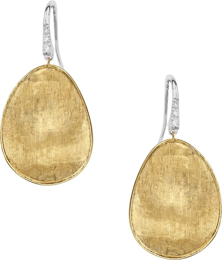 Marco Bicego Lunaria Diamond Pave Drop Earrings