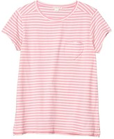J.Crew Crewcuts By crewcuts by Striped Heart Pocket Tee (Toddler/Little Kids/Big Kids) (Ivory/Pink) Girl's T Shirt