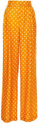 Paul & Joe Polka-dot Satin-jacquard Wide-leg Pants