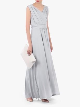 Jolie Moi V Neck Draped Maxi Dress