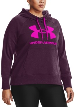 Under Armour Plus Size Ua Rival Fleece Logo Hoodie