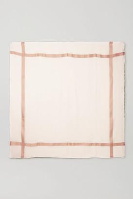 Loro Piana Frayed Cashmere And Silk-blend Scarf - Ivory