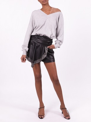 Alexander Wang Studded Faux-leather Shorts