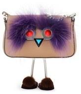 Fendi Face Micro Calfskin & Genuine Fur Baguette With Slippers - Brown