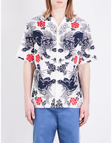 Gucci Dragon-print Regular-fit Cotton Shirt