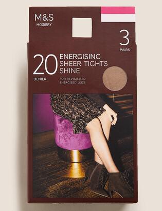 Marks and Spencer 3pk 20 Denier Energising Sheer Tights