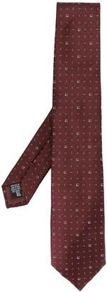 Emporio Armani Geometric Print Tie