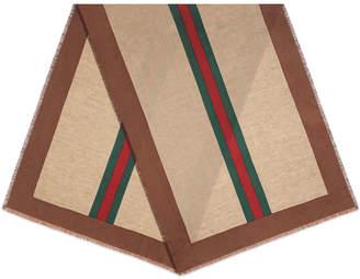 Gucci Men's Baiadera Lane Linen-Blend Stole