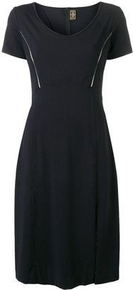 Fendi Pre Owned 1990's Metallic Applique Slit Dress