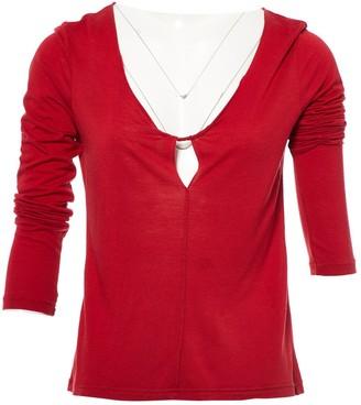 Maison Margiela Red Cotton Top for Women