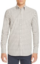 Canali Check Woven Classic Fit Button Down Shirt