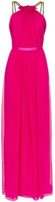 HANEY Emeline chain strap maxi dress