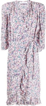 IRO Floral Print Wrap-Dress