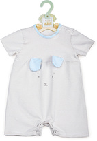 Bunnies by the Bay Blue Stripe Bunny Romper - Infant